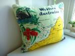 australia map pillow
